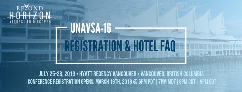 Conference FAQ - UNAVSA-16 Conference | Summer 2019